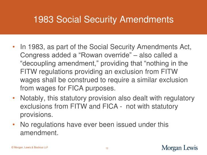 1983 Social Security Amendments