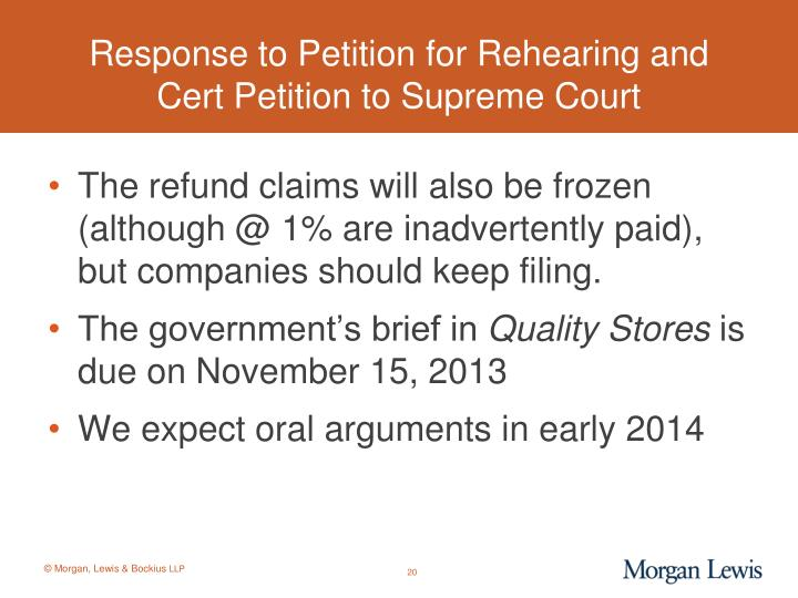 Response to Petition for Rehearing and
