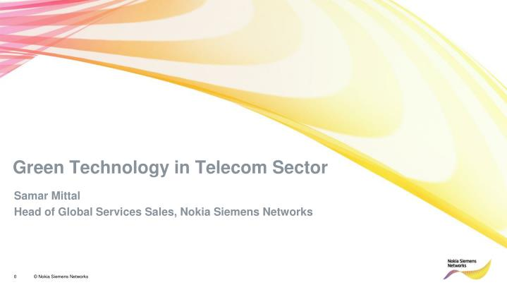 green technology in telecom sector n.