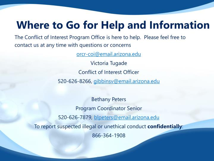 Where to Go for Help and Information