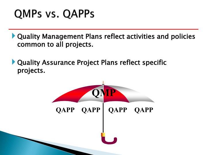 QMPs vs. QAPPs