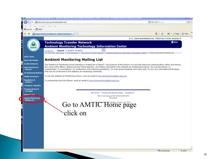 Go to AMTIC Home page