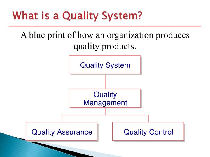 What is a Quality System?