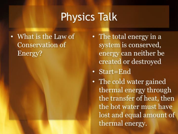 Physics Talk