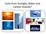 fuels from sunlight water and carbon dioxide
