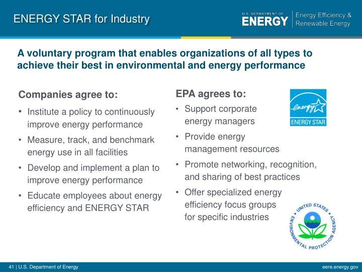 ENERGY STAR for Industry