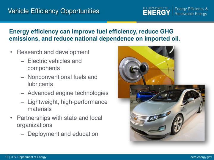 Vehicle Efficiency Opportunities