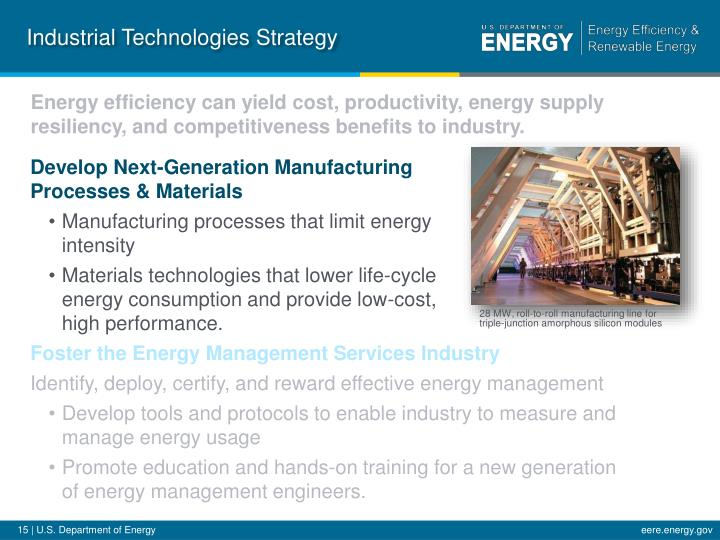 Industrial Technologies Strategy