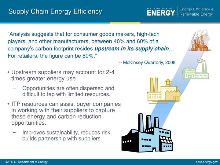 Supply Chain Energy Efficiency