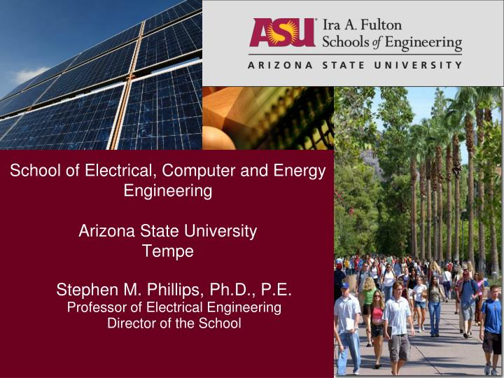 ppt - school of electrical, computer and energy engineering, Presentation templates