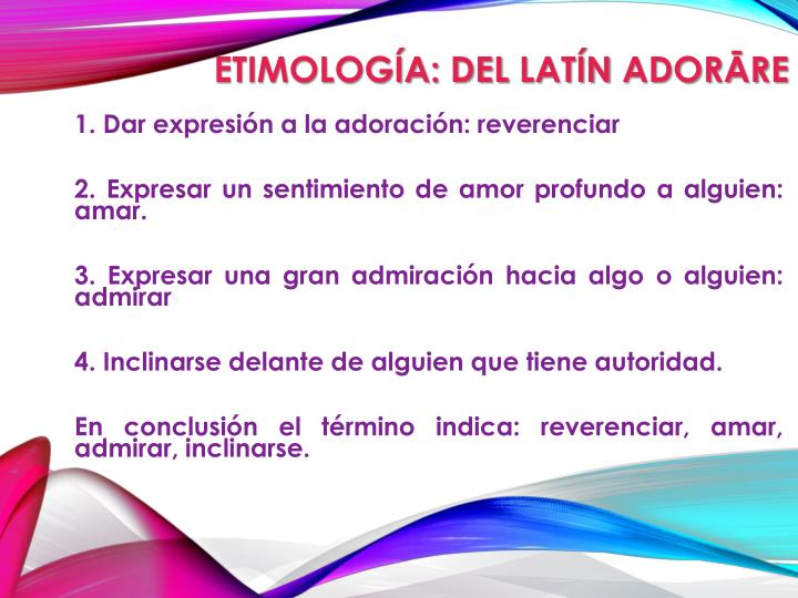 Etimología: del