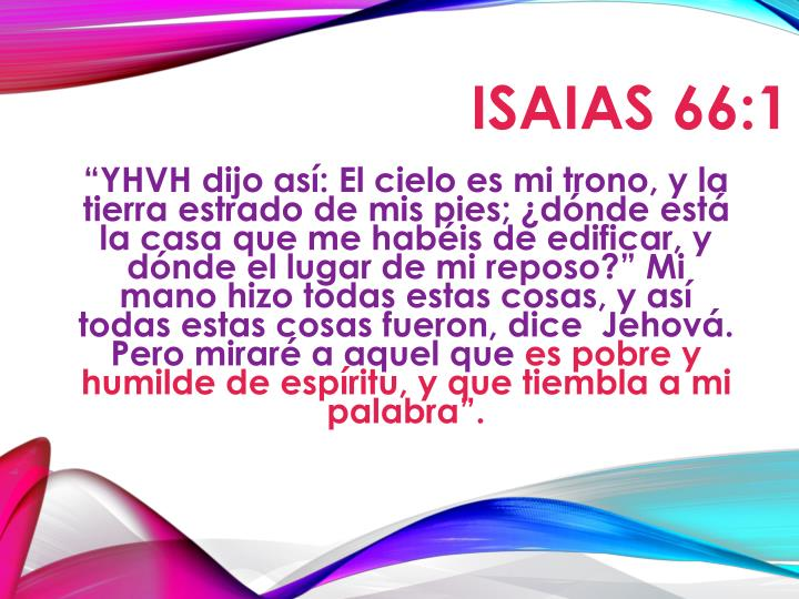 ISAIAS 66:1