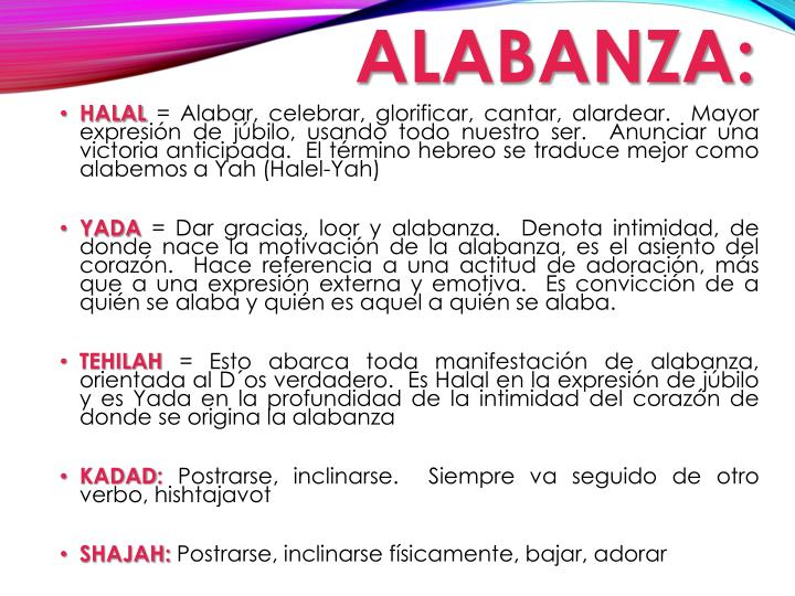 ALABANZA: