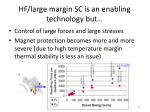 hf large margin sc is an enabling technology but