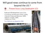 will good news continue to come from beyond the us