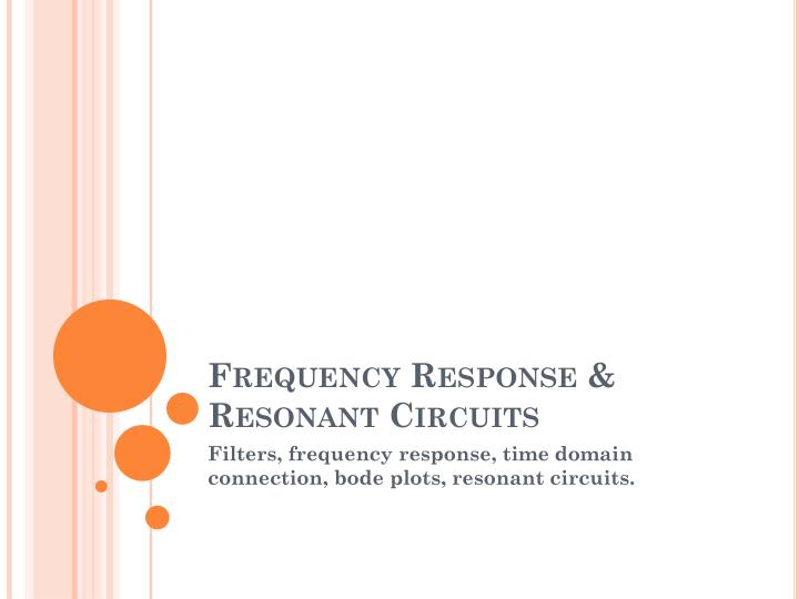 frequency response resonant circuits n.