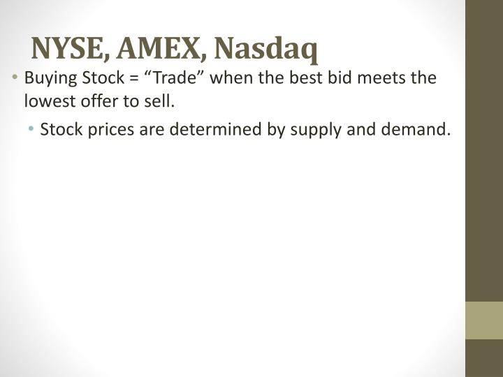 NYSE, AMEX, Nasdaq