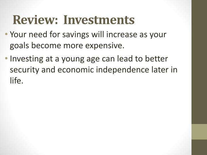 Review investments