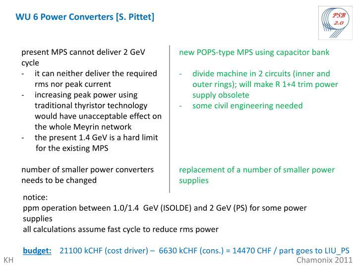 WU 6 Power Converters [S. Pittet]