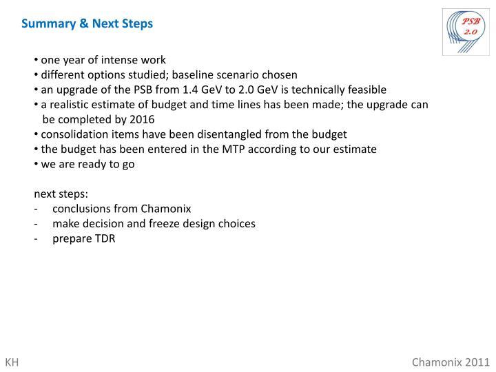 Summary & Next Steps