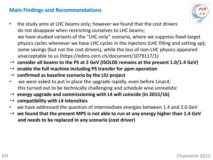 Main Findings and Recommendations