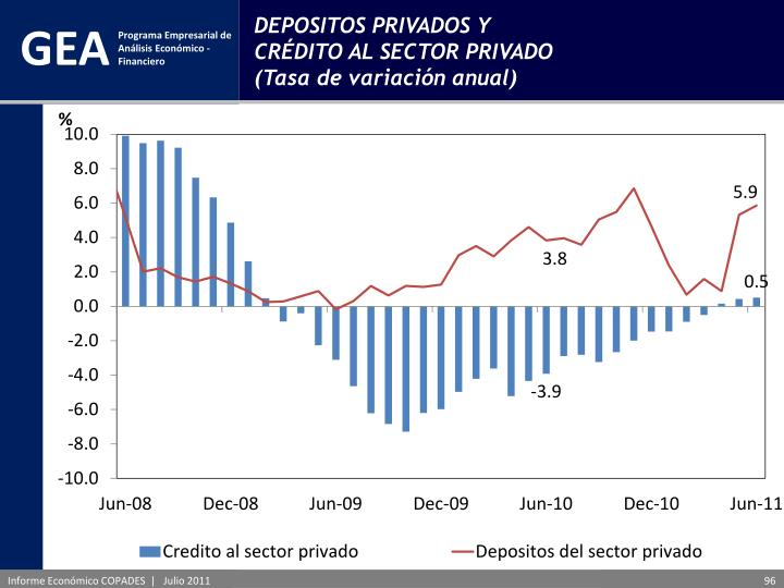 DEPOSITOS PRIVADOS Y