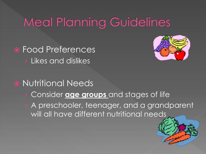 Meal Planning Guidelines