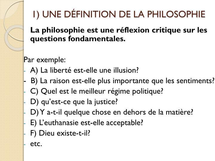 1 une d finition de la philosophie