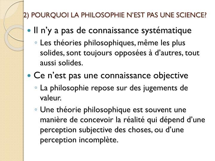 2 pourquoi la philosophie n est pas une science