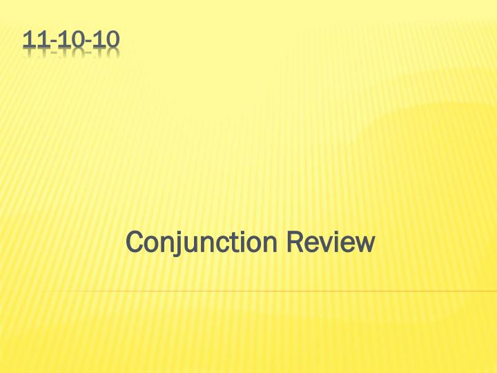 conjunction review n.
