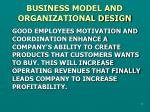 business model and organizational design1