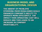 business model and organizational design2
