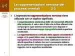 le rappresentazioni nervose dei processi mentali 2 3