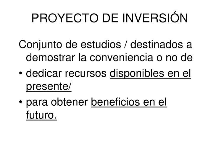 Proyecto de inversi n
