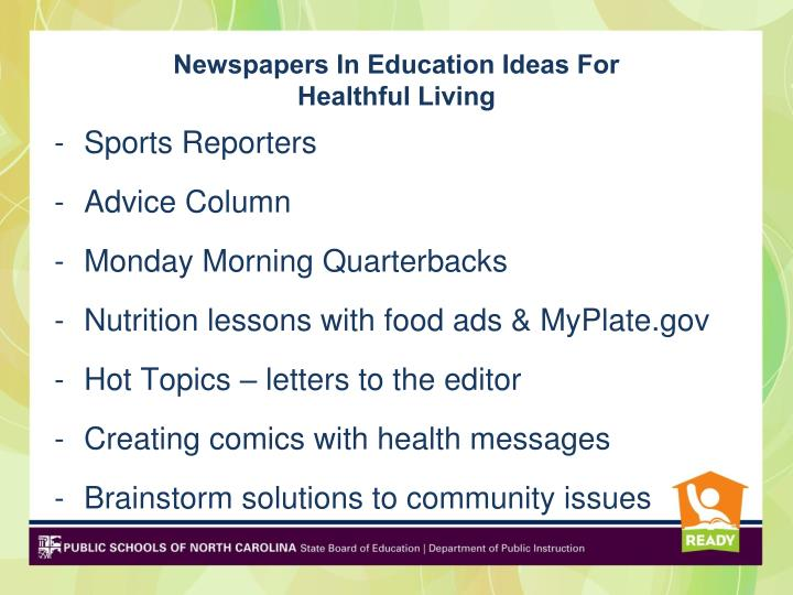 Newspapers In Education Ideas For