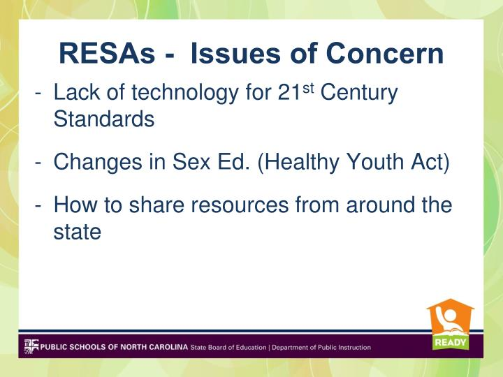 RESAs -  Issues of Concern