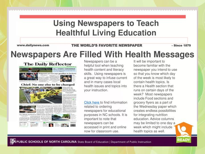 Using Newspapers to Teach
