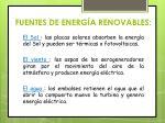 fuentes de energ a renovables
