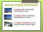 nuevas fuentes de energ a