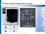 primary printer components front