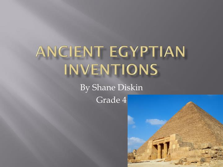 ancient egyptian inventions n.