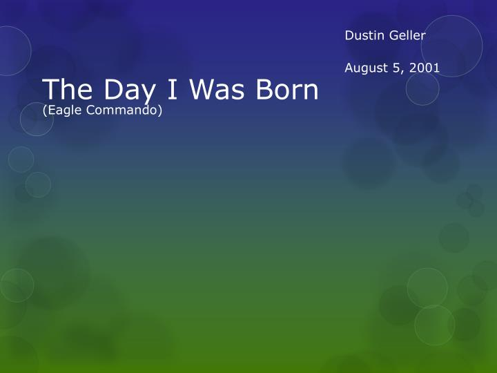 the day i was born n.