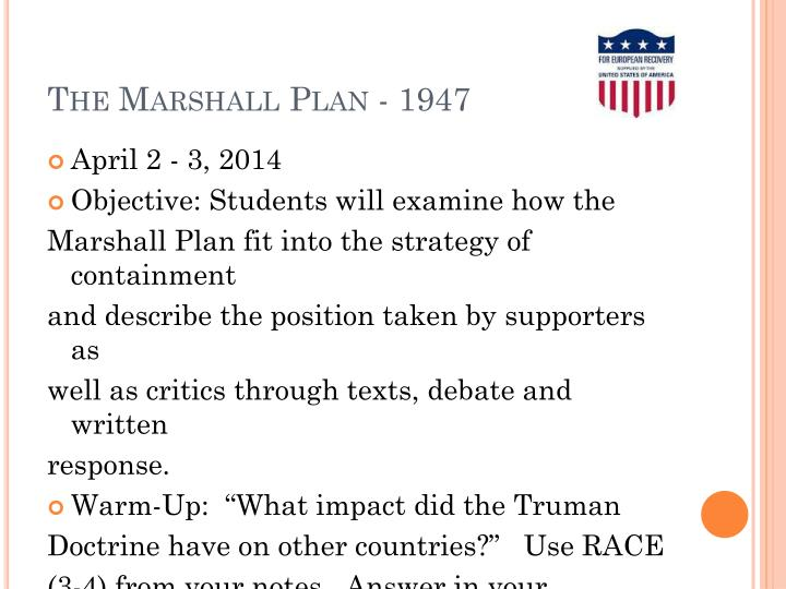 the marshall plan 1947 n.