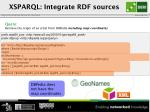 xsparql integrate rdf sources1