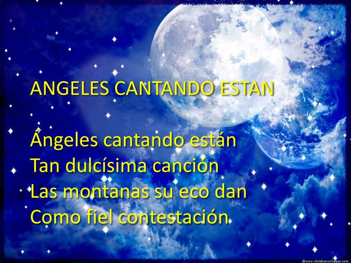 ANGELES CANTANDO ESTAN