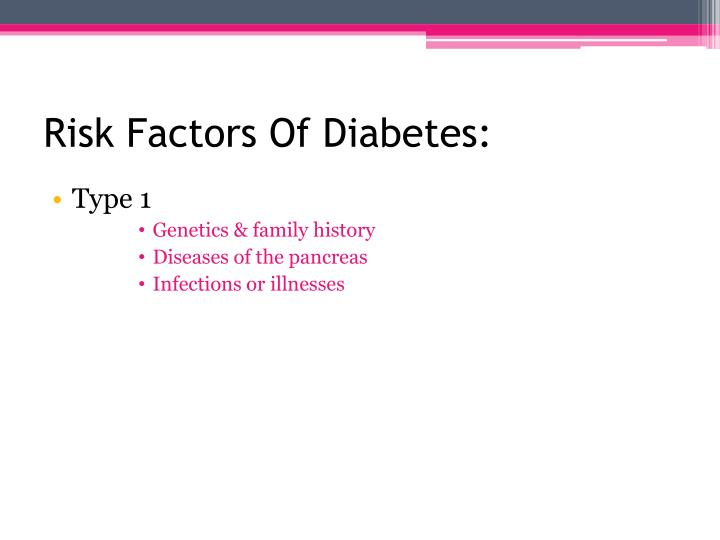 Risk Factors Of Diabetes: