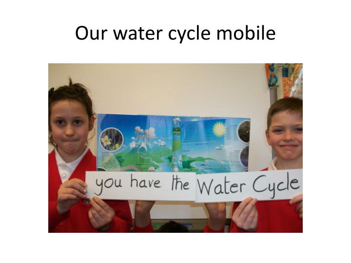 Our water cycle mobile