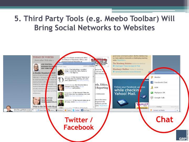 5. Third Party Tools (e.g.