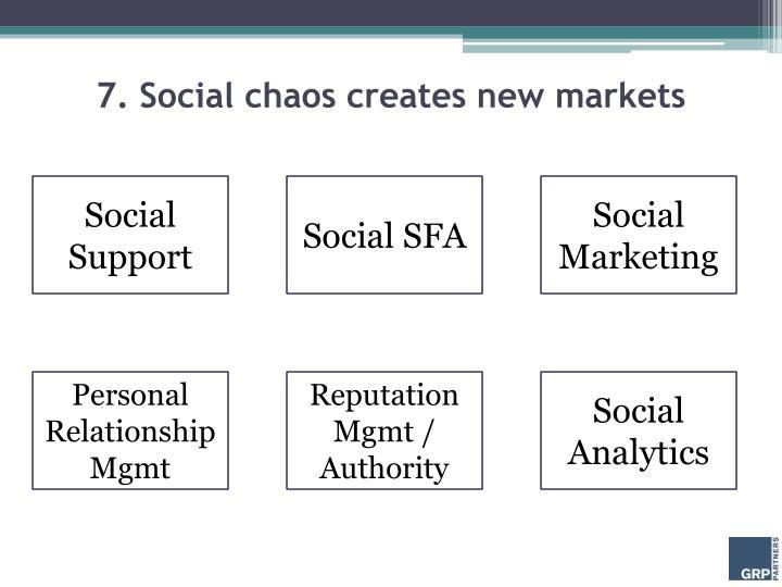 7. Social chaos creates new markets