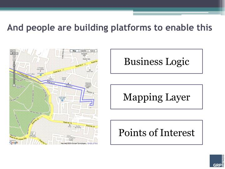 And people are building platforms to enable this
